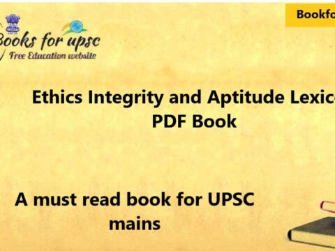 Ethics integrity and aptitude lexicon pdf book by chronicle publication