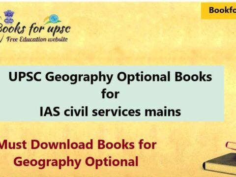 UPSC Geography Optional Books for IAS civil services mains